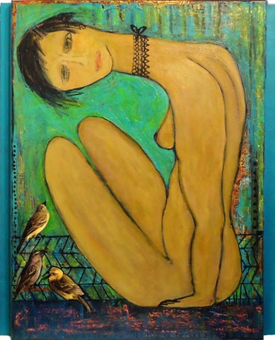 Susan Wallack: Turquoise Nude
