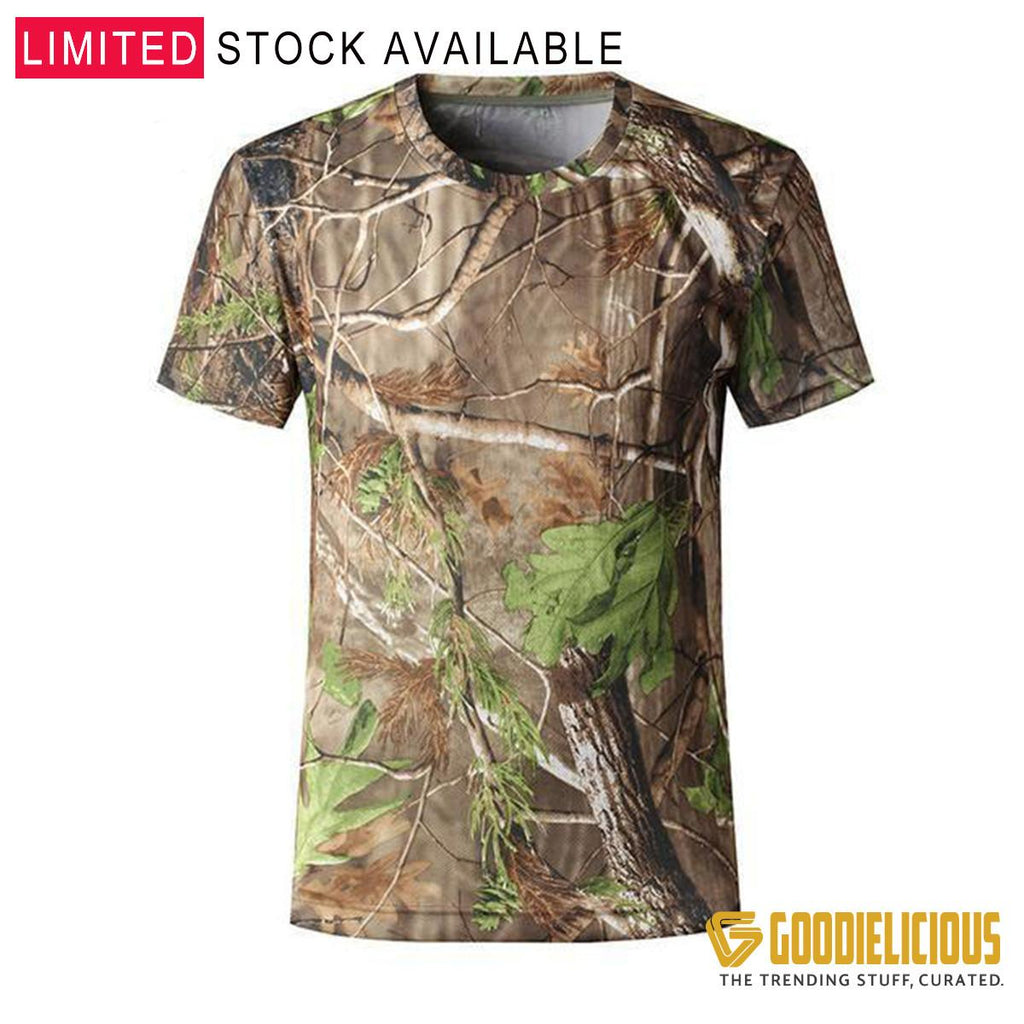 Quick dry Camo T-Shirt for Hiking,Camping,Hunting and all outdoor activities