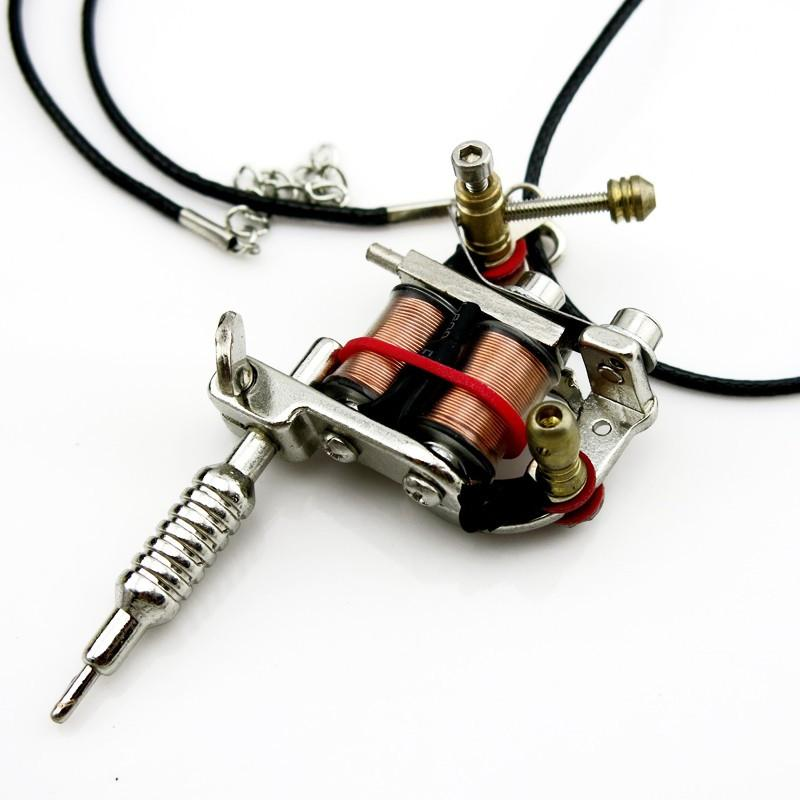 Tattoo machine pendant necklace goodielicious tattoo machine pendant necklace aloadofball Images