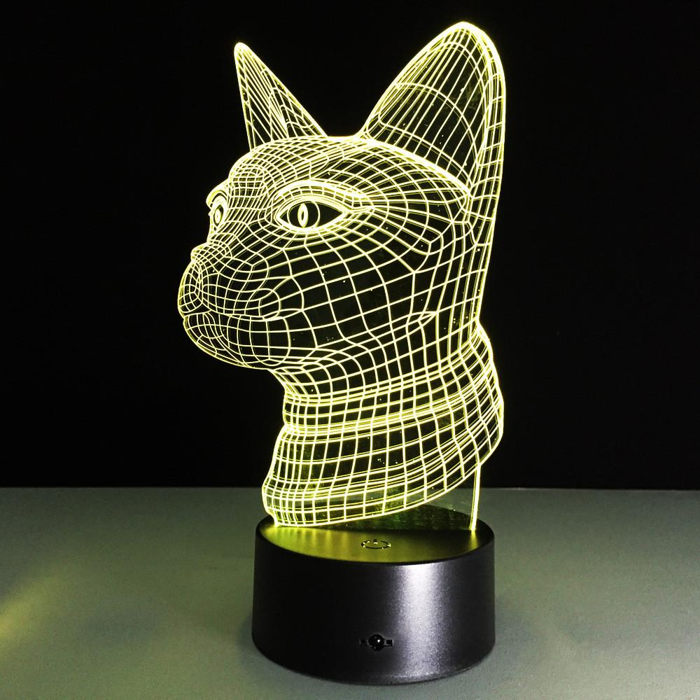 3D Cat Blueprint LED