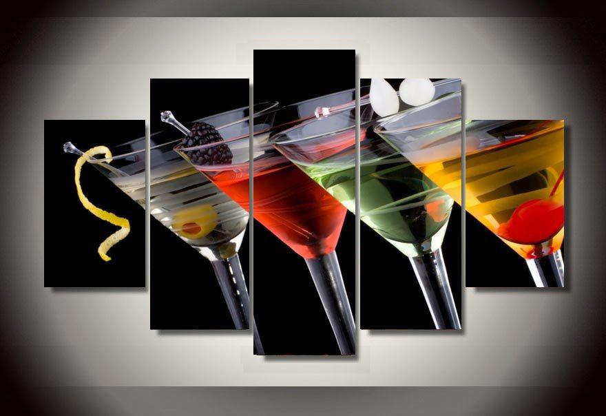 Limited Edition Cocktail Lover 5 Piece Canvas