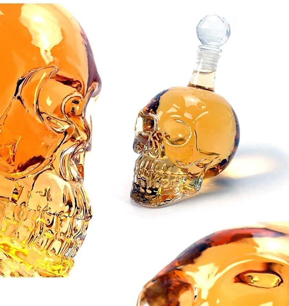 Crystal Skull Liquor Container