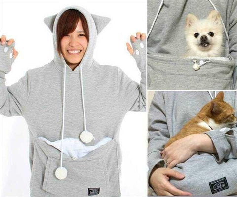 Dog-Cat Lovers Kangaroo Pouch Hoodie