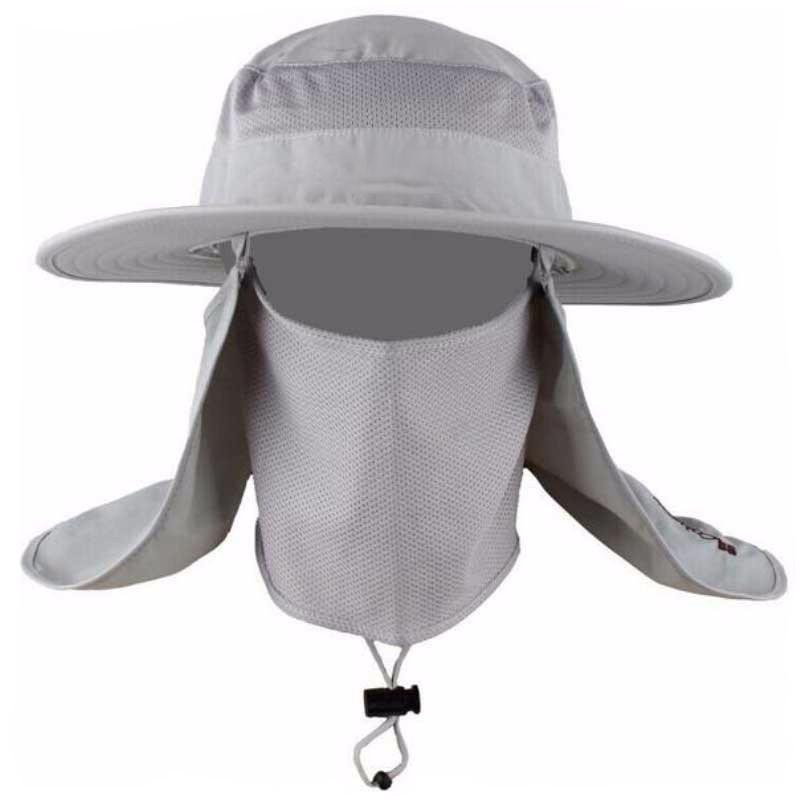 Wide Brim Fishing Hat with Rear and Face Veil