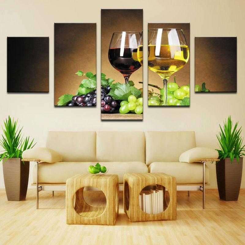 Limited Edition Wine Lover 5 Piece Canvas