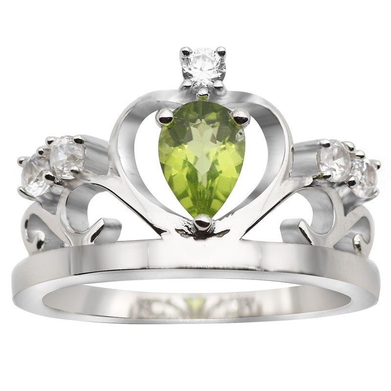 Royal Crown Natural Peridot Ring