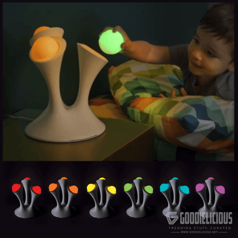 Nightlight with Portable Glowing Balls
