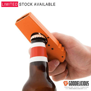 Key Chain Beer Bottle Opener Cap Launcher