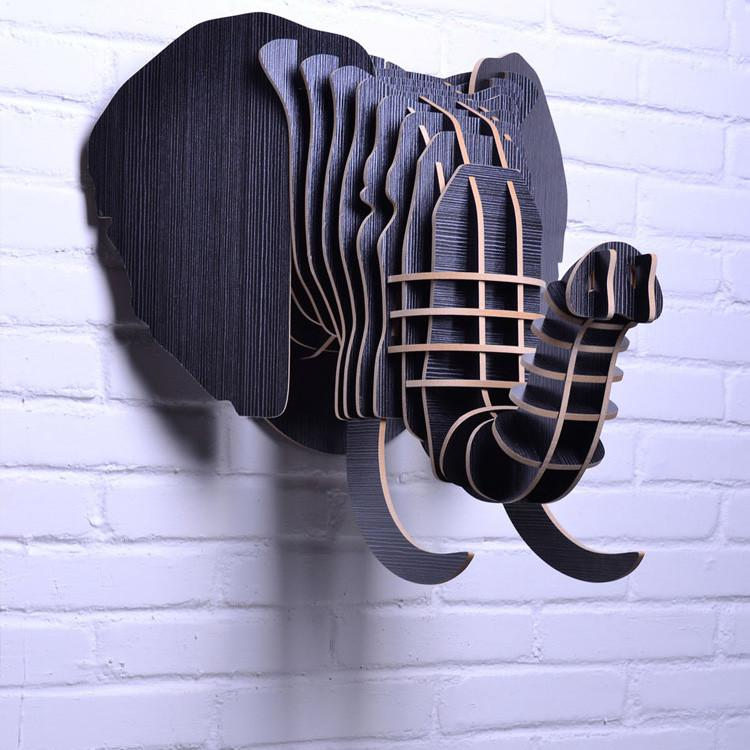 Elephant Wooden Head -Diy Wood Furniture