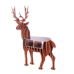 Mini Deer Wooden Table-Diy Wood Furniture-S Size