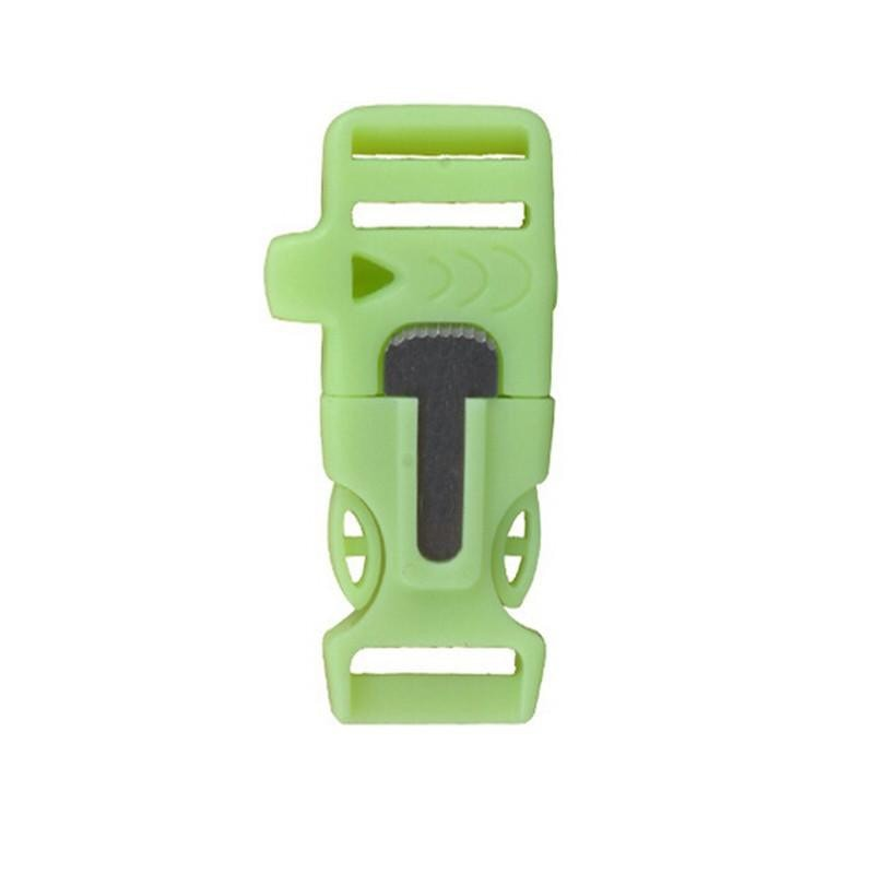 "Glow in Dark 3/4"" Fire Starter Survival Whistle"