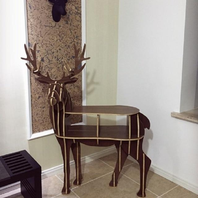 Reindeer Wooden Table - Diy Wood Furniture