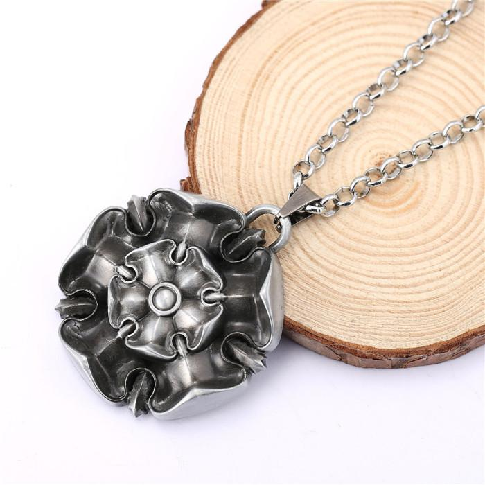 """Growing Strong""  Pendant Metal Necklace"