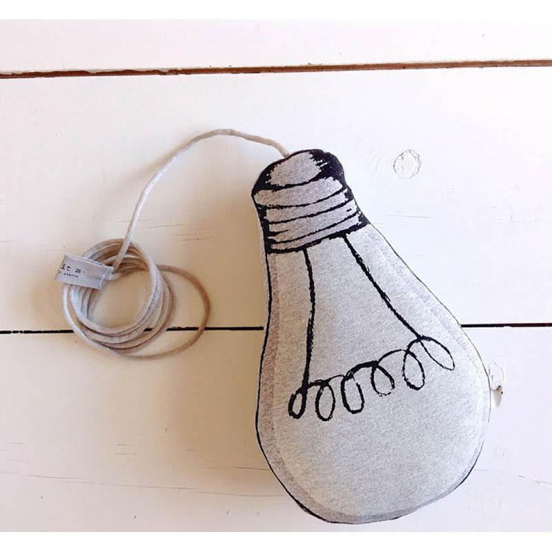 Adorable Glow in The Dark Lamp Bulb Baby Pillow