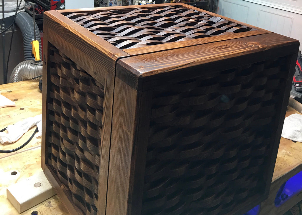 Wooden mini-fridge
