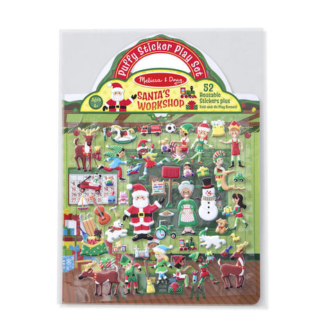 Puffy Sticker Play Set- Santa's Workshop