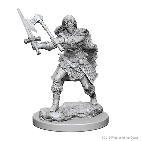 D&D Miniature Human Barbarian female
