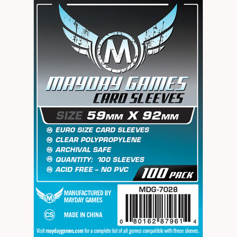 Mayday Game Sleeves Euro 59mm x 92mm