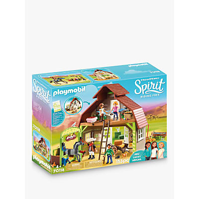 Playmobil Barn with Luck, Pru and Abigail