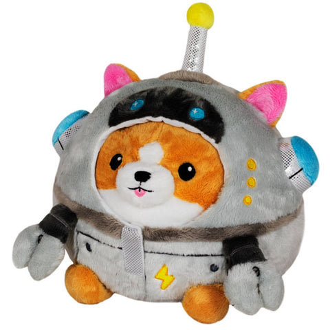 Mini Squishable Corgi in Robot Costume
