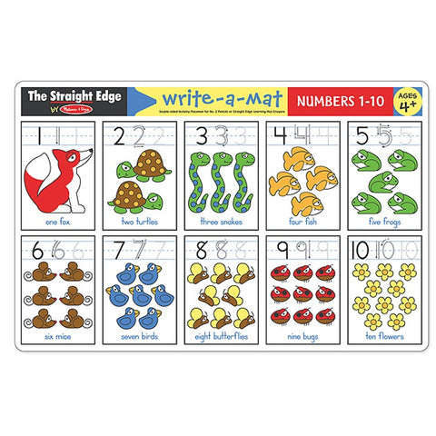 Numbers 1 - 10 Learning Mat