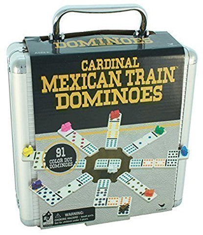 Mexican Train Dominos in Aluminum Carry Case
