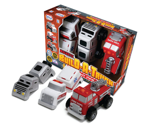 Magnetic Build-a-Truck: Fire & Rescue