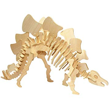 3D Wood Kit Small Stegosaurus