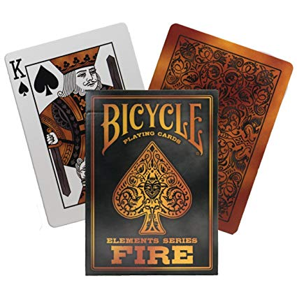 Bicycle Playing Cards Fire Elemental