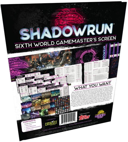 Shadowrun Sixth World Game Master Screen