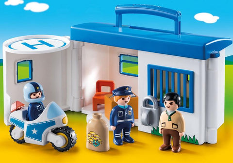 Playmobil 123 Take Along Police Station