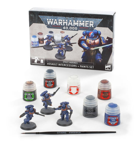 Warhammer 40K Space Marine Intercessors Paint Set