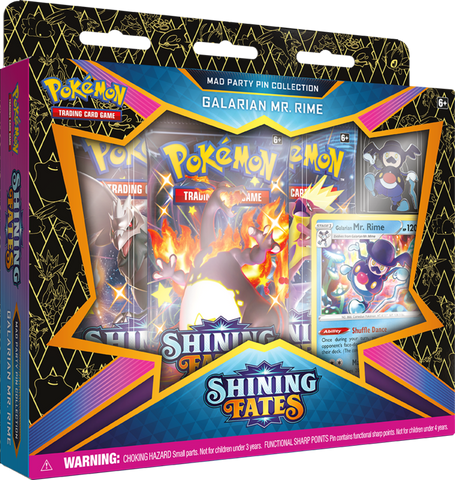 Pokemon Shining Fates Mad Party Pin Collection: Galarian Mr. Rime