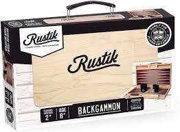 Backgammon Wooden Suitcase