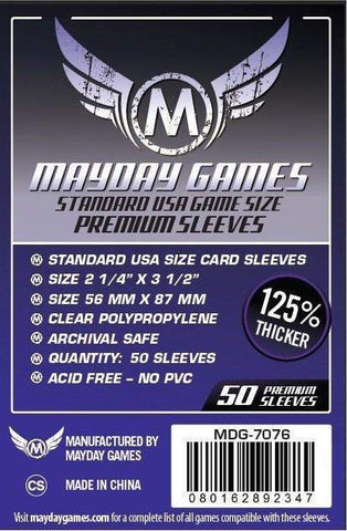 Mayday Game Sleeves Standard USA 56mm x 87mm