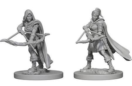 D&D Miniature Human Ranger female