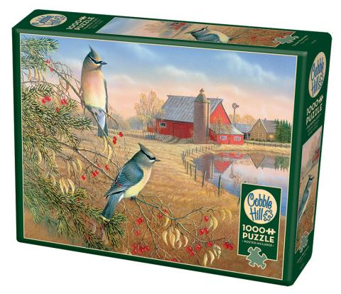 Cedar Waxwings - 1000pc