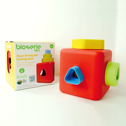 Bioserie Toys-Shape Sorting and Stacking Cube