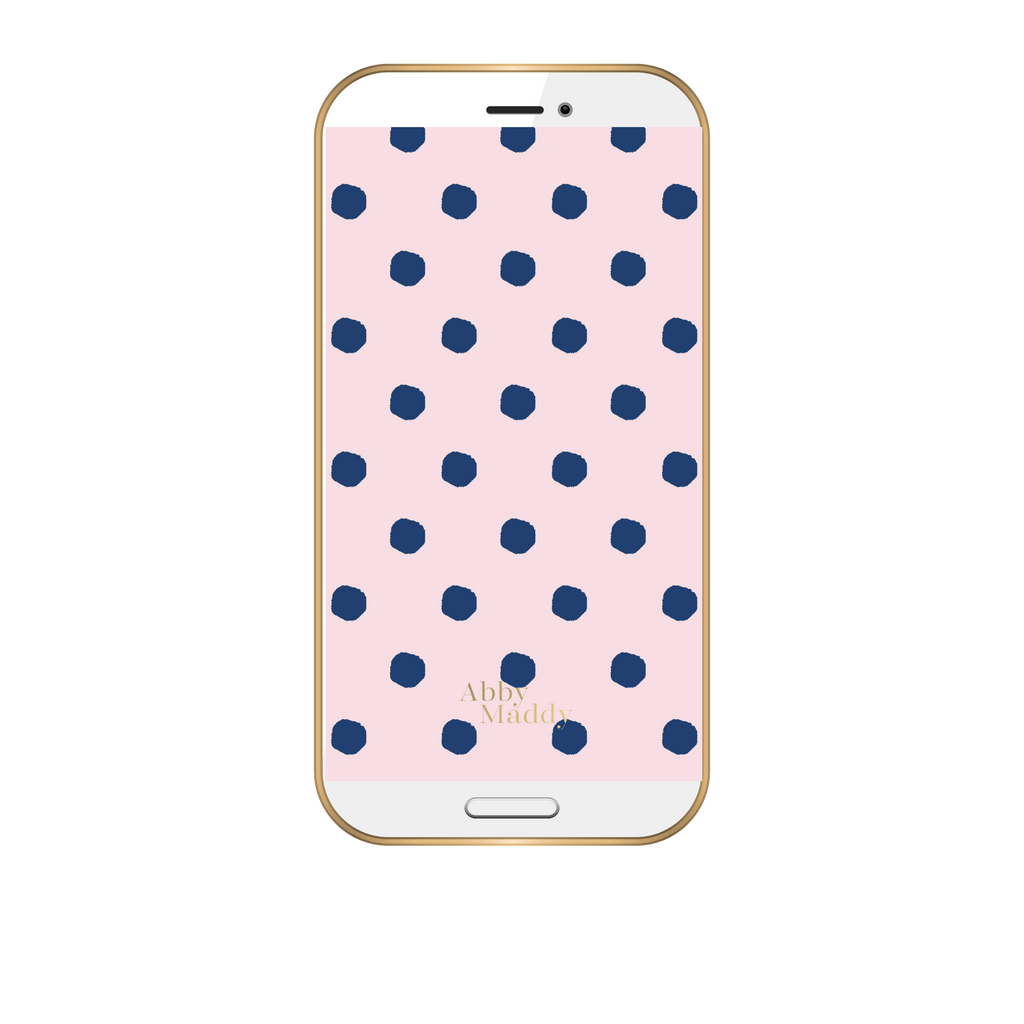 September Phone Wallpaper-Preppy Dots