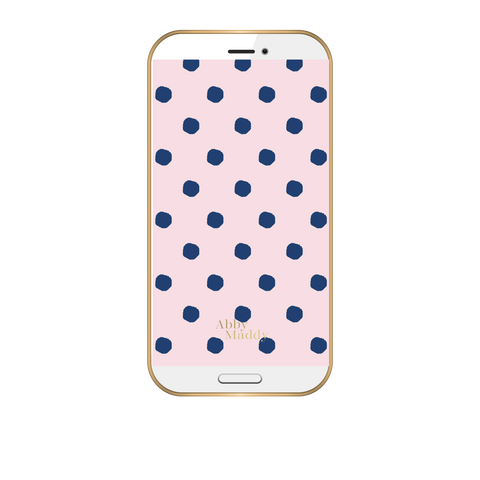 Phone Wallpaper-Preppy Dots