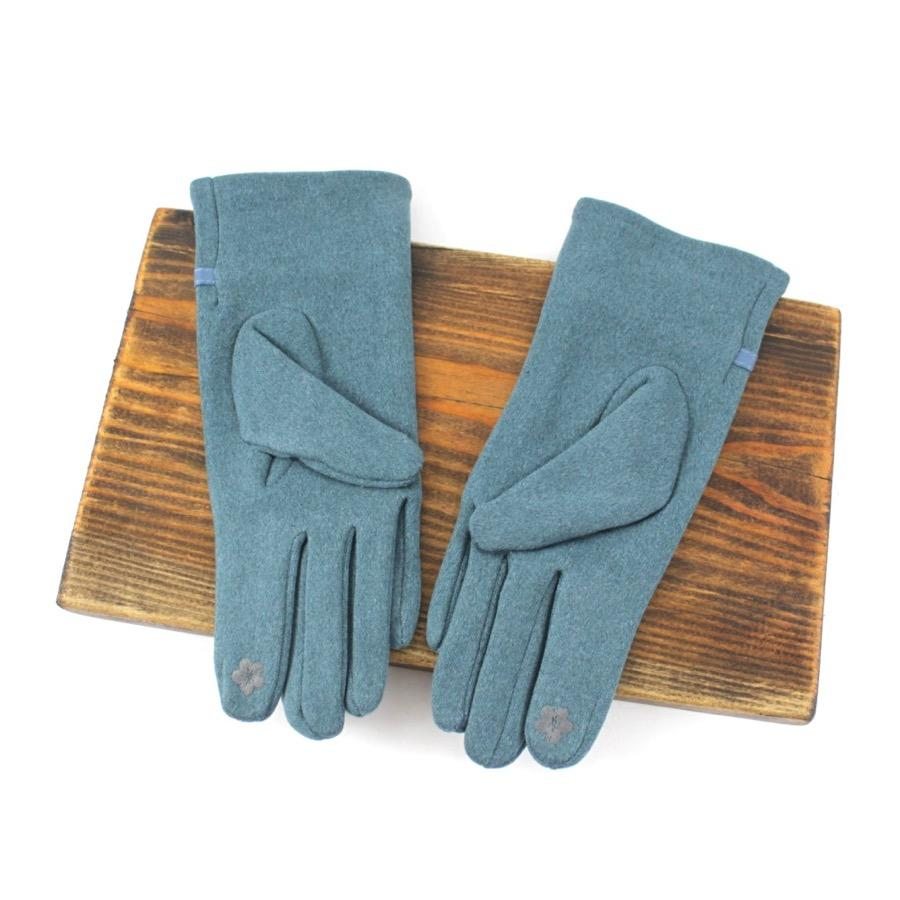 Buckle Gloves in Dark Teal