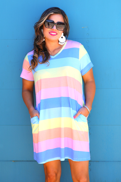 Carly Color Block Pocket Dress