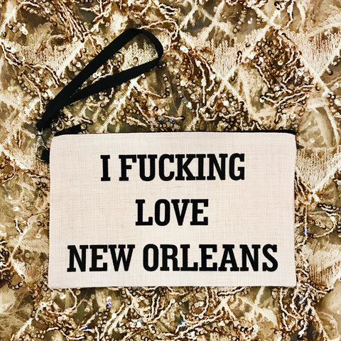 SALE!!!!I Fucking Love New Orleans bag - Sweet Pea and Tulip