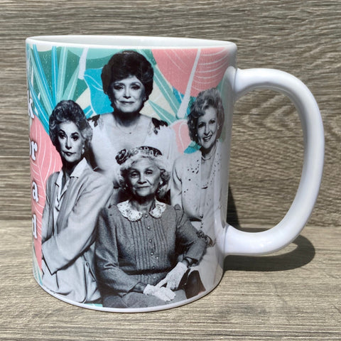 Golden Girls  Coffee Mug - Sweet Pea and Tulip
