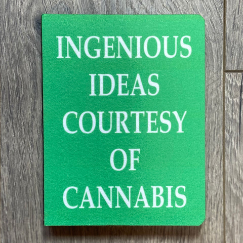 Ingenious Ideas Courtesy Of Cannabis Notebook - Sweet Pea and Tulip