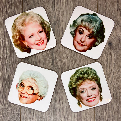 GOLDEN GIRLS COASTER SET - Sweet Pea and Tulip