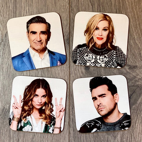 SCHITT'S CREEK COASTER SET - Sweet Pea and Tulip
