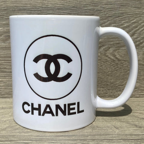 Chanel Logo Coffee Mug - Sweet Pea and Tulip