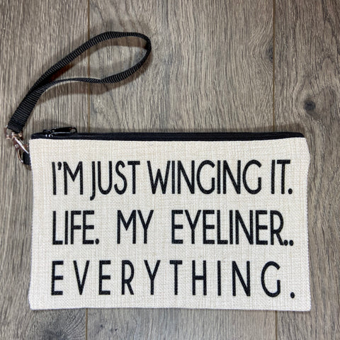 I'm Just Winging it. Life. My Eyeliner.. Everything.. - Sweet Pea and Tulip