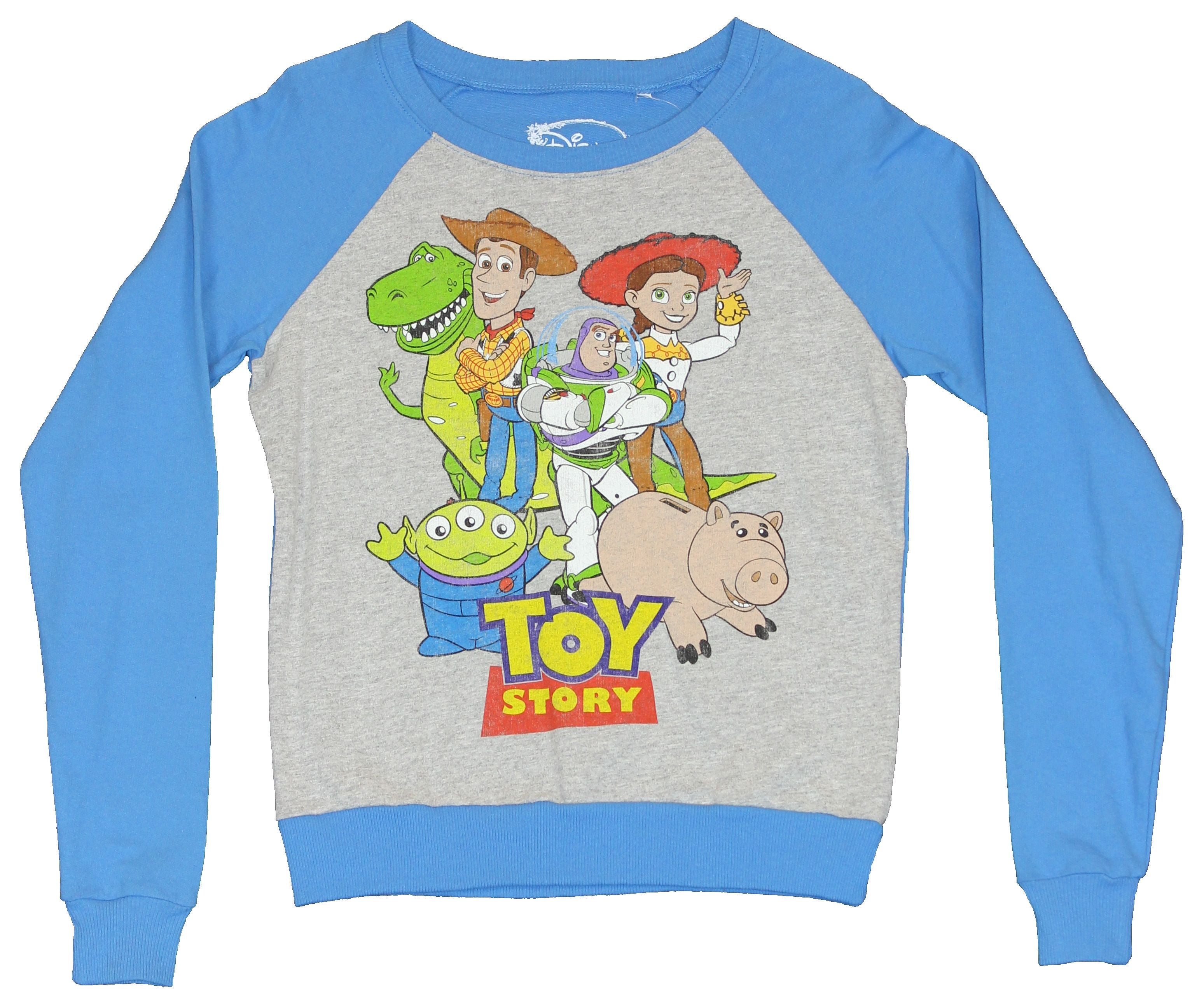 Toy Story Girls Juniors Light Sweatshirt Shirt -  Group Cast Picture